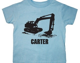 Digger Shirt - Personalized - any name - Construction Party
