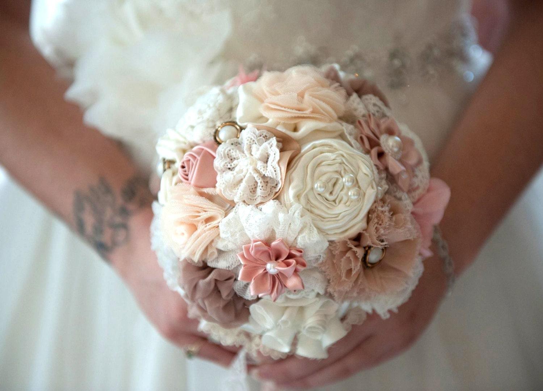 Bridal Bouquet Materials : Wedding bouquet fabric flowers bridal bridesmaids