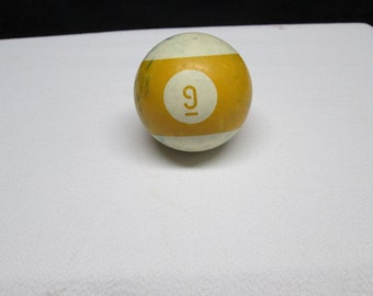 Vintage pool table ball,  no. 9, upcycle supplies