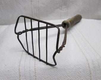 Wooden handle Potato Masher, kitchen collectibles decor