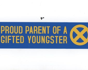 Proud Parent of a Gifted Youngster sticker - x-men decal geek gift