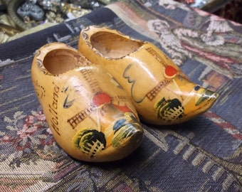 Dutch Wooden Shoes With Windmills
