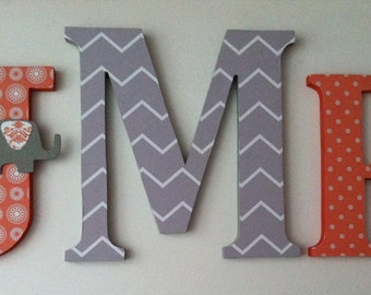 Wooden  letters for nursery spelling out your child's name