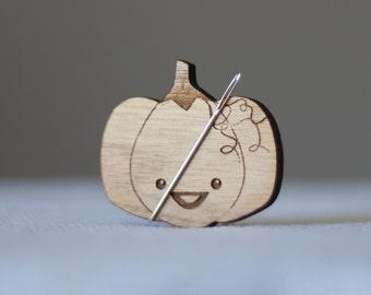 Sugarloaf Needle Minder + Optional Knitting Needle Gauge knitting cross stitch wooden wood The Frosted Pumpkin Stitchery
