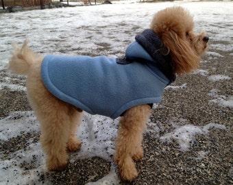 Fleece Dog Coat, Small Dog, Warm fleece, Reversible Hoodie