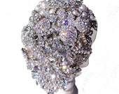 Brooch Bouquet Peitho Teardrop Vintage Brooches and Jewelled Wedding Bouquet