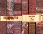 Rustic Red Barn Wood INSTANT Digital Download Scrapbook Printable