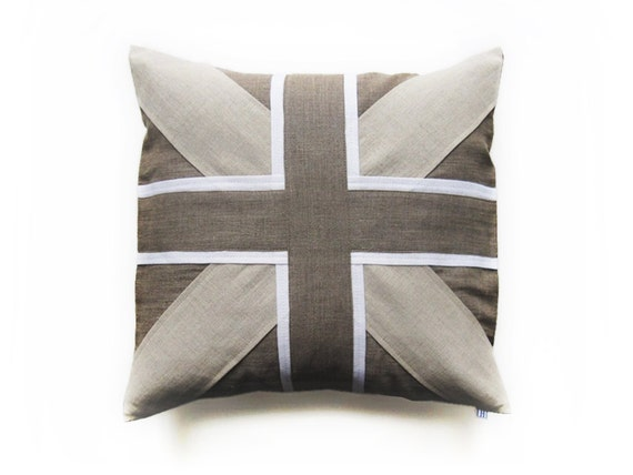 Linen pillow cover by Lovely Home Idea Union Jack Natural