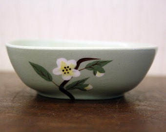 """Vintage Weil Ware Bowl w/Hand-Painted """"Blossom"""" Floral Design (E4612)"""