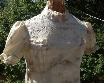 CLOSING SALE Pretty Floral Formal 70's Dress