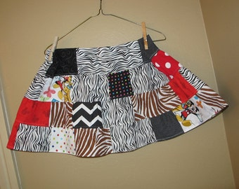 Disney skirt  -5t, 6, 6x -maybe 7 -  Animal Kingdom themed skirt - ready to ship - Minnie - Miss Mouse