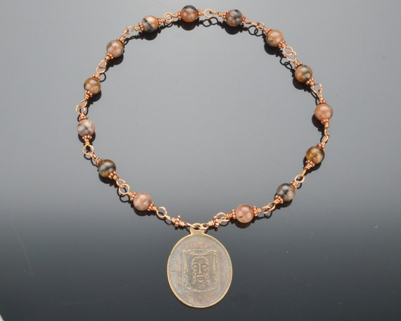 Holy Face Chaplet with 14 Beads:  Heirloom Quality Wire Wrapped Chaplet (Unbreakable)
