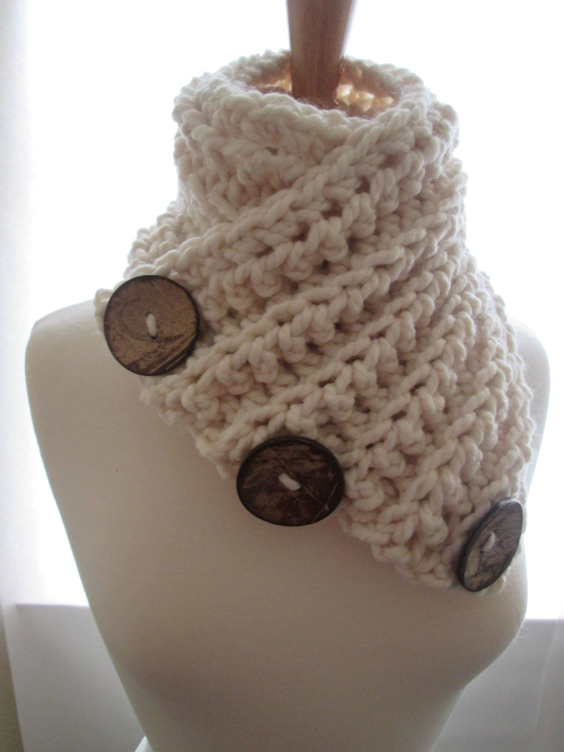 3 Button crochet cowl Pattern Beginner 3 by ...