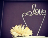 Infinite Love Wire Wedding Cake Topper