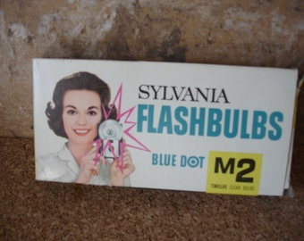 Vintage Sylvania M2 Blue Dot Flash Bulbs