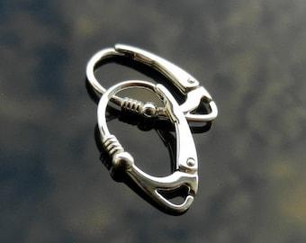 Sterling Silver Lever Back ear hooks earrings 925 1 PAIR European Earwires