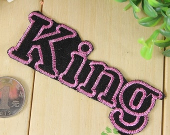 Iron on Fabric Patch - King - FP61