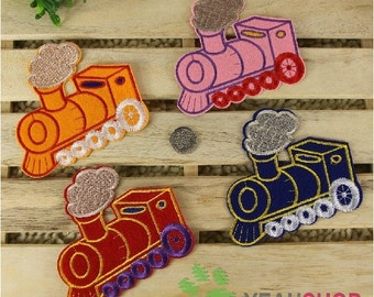 Iron on Fabric Patches - Colorful Trains - FP82