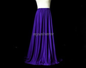 Skirt Royal Blue Maxi Skirt Full Length Skirt Long Skirt Girl Ladies Women Skirt Christmas Gifts Idea