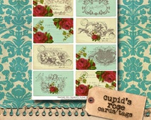 Cupid's Rose - Vintage Valentine's Day Tags