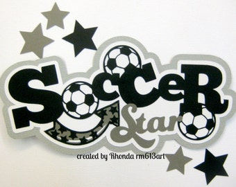 Soccer Sports title for premade scrapbook page