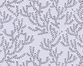 Half Yard Catnap Cat Mint in Grey, Lizzy House for Andover Fabrics, 100% Cotton Fabric, A 7344 LC