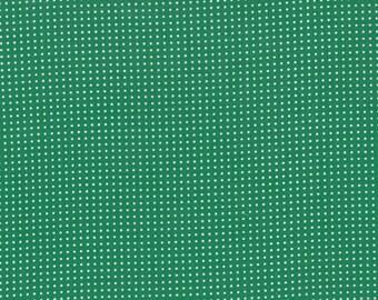 Half Yard Color Me Happy Dots in Emerald, Vanessa Christenson, V and Co, Moda Fabrics, 100% Cotton Fabric, 10827 14