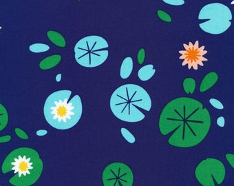 Lotus Pond Lily Pond, Rae Hoekstra, 100% GOTS-Certified Organic Cotton, Cloud9 Fabrics