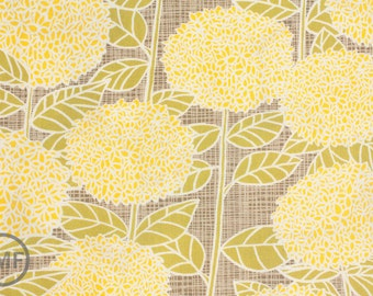 Bluebird Park Hydrangea in Lamp Post Sunrise Yellow, Kate and Birdie Paper Co., 100% Cotton, Moda Fabrics, 13101 18