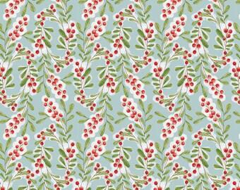LAST PIECE Merry Stitches Much Joy in Blue, Cori Dantini, Blend Fabrics, 100% Cotton Fabric, 112.104.04.02
