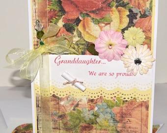 Elegant Graduation Card - Custom Graduation Daughter/Granddaughter - Graduation Card
