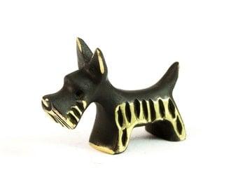 """Walter Bosse Scottie Dog - Brass """"Black Gold"""" Scottish Terrier Figurine — """"Scotch"""""""