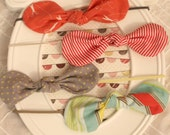 CHOOSE ONE Fabric Knotted Bows Headband