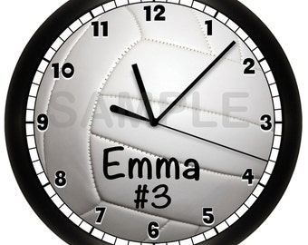 Personalized VOLLEYBALL Wall Clock Sports Team