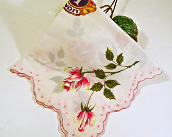Handkerchief Hanky Hankie Vintage Hankys Hankies Antique Handkerchief Hankerchief Lions Club International
