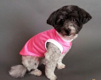 Pink Jersey Knit Dog Sleeveless Dog Shirt