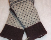 Heavy Weight Recycled Wool Nordic Ski Sweater Mittens ( #238)