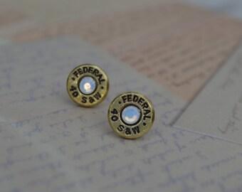 Bullet Earrings Federal Smith & Wesson 40 Caliber Casings Post/Stud Earrings