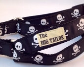 Black Skull & Crossbones Step in Dog Harness