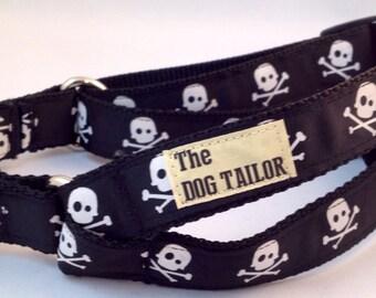 Black Skull & Crossbones Step in Dog Harness