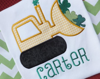 Personalized St. Patrick's Day Bulldozer T-shirt