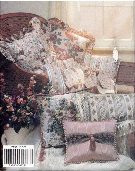 Craft sewing pattern 1990 39 s pillows home decor by for Home decor 1990s