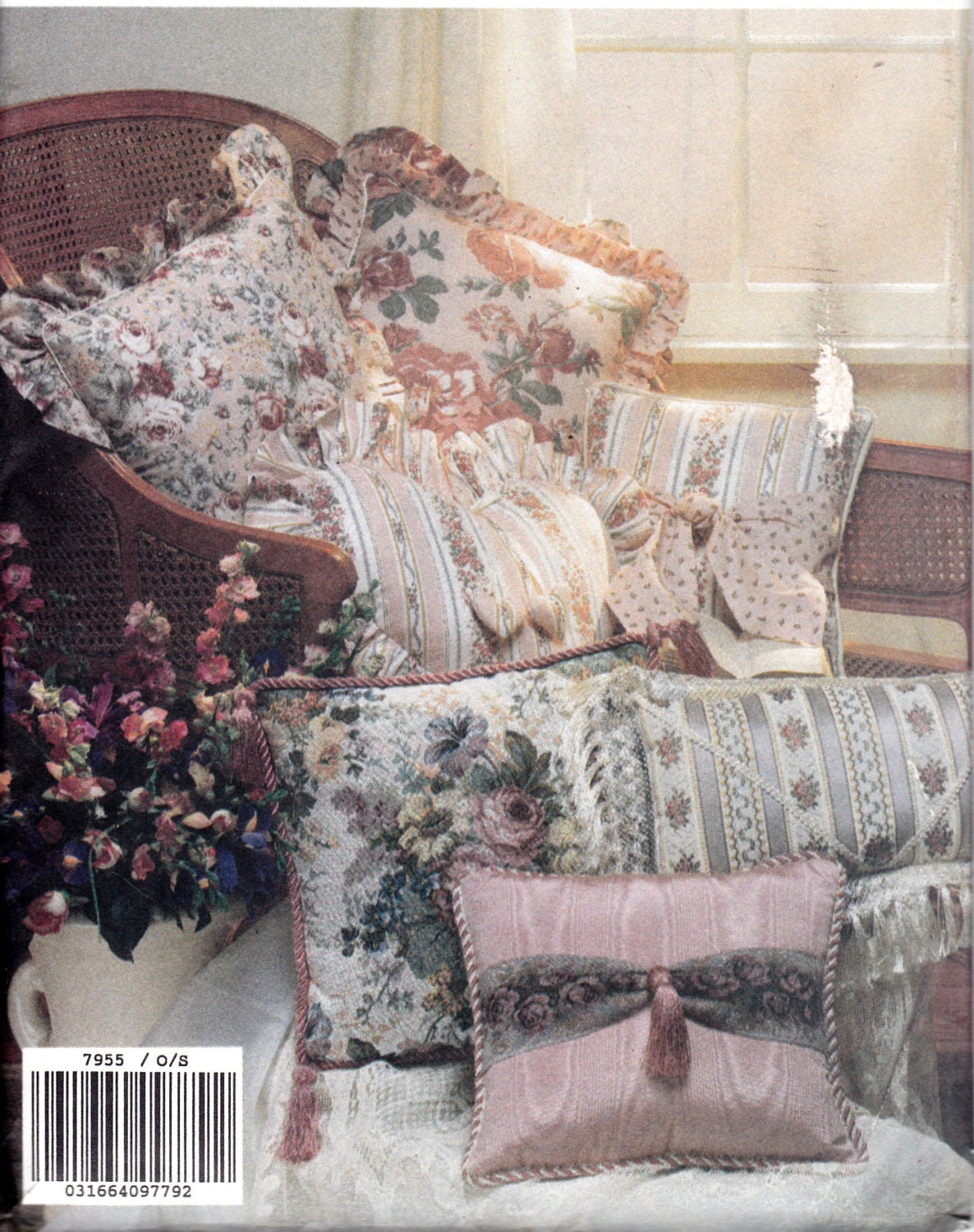 Craft sewing pattern 1990 39 s pillows home decor vogue 7955 for Home decor 1990s