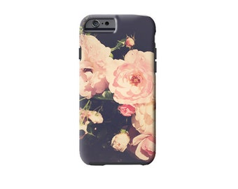 Pink Rose iPhone case, iPhone 6 case, Samsung Galaxy s7 Cover, iPhone 6 plus, pink and charcoal grey, galaxy s5 case, case, pretty flowers,