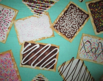 Pop Tarts Icing Snack Food Cotton Fabric Fat Quarter or Custom Listing