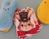 Hello there bunny Tags, bunny Easter tags, Easter party tags, Easter eggs, colorful Easter, Easter decorations