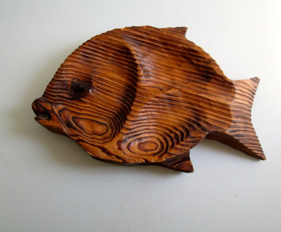 Fish Wall Decor Wood : Large fish wall decor wood plaque vintage mod pop