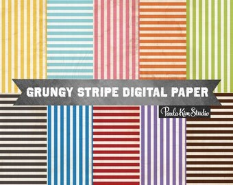 White Stripe Digital Paper, Background Textures, Commercial Use Instant Digital Download