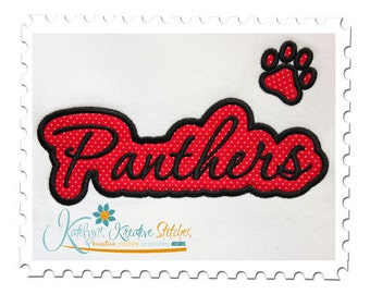 Panthers Applique Script