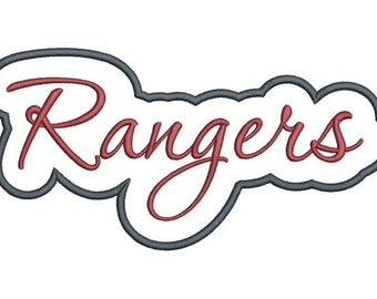 Rangers Applique Script